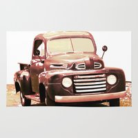 truck Area & Throw Rugs featuring Old Truck by Regan's World