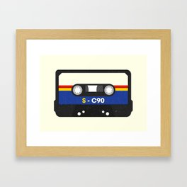 Black Cassette #2 Framed Art Print