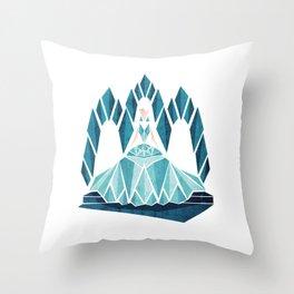 Waiting ( The Snow Queen ) Throw Pillow