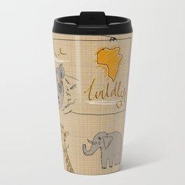 African Animals Metal Travel Mug
