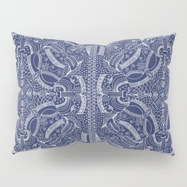 Doodles & Bits Lacy Blue Bandana Pillow Sham