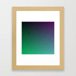 Peacock Green purple blue black ombre waves Framed Art Print