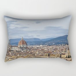 Florence Skyline from Piazza Michelangelo Rectangular Pillow