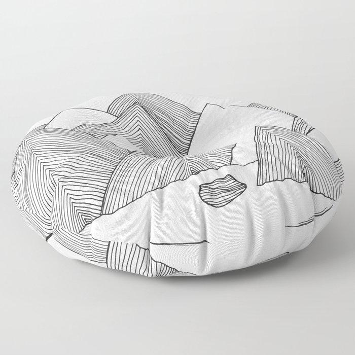 Mountains IIII Floor Pillow