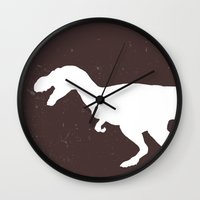trex Wall Clocks featuring trex by AleDan