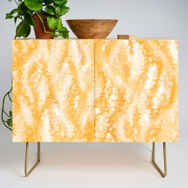 Honey Gold Tropical Abstract Credenza