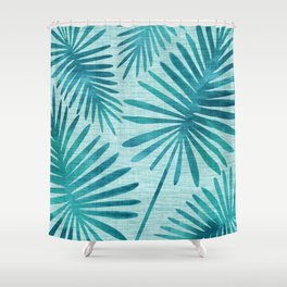 Mid Century Tiki Fronds Shower Curtain