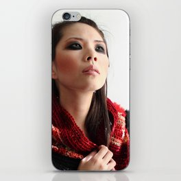 Caution (portrait) iPhone Skin