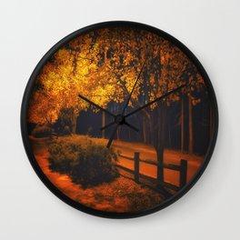Autumn Evening Glow Wall Clock