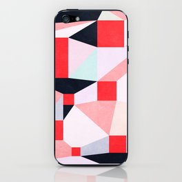 Red Squares iPhone Skin