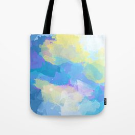 Colorful Abstract - blue, pattern, clouds, sky Tote Bag