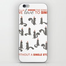 Squirrel Choir Holiday! iPhone & iPod Skin