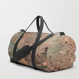 Marble Emerald Copper Blue Green Duffle Bag