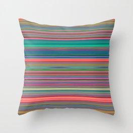 Colour Line Stripes 631 Throw Pillow