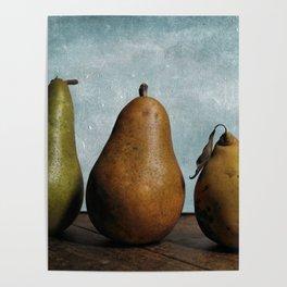 Three Pears - Still Life Poster