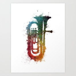 euphonium music art Art Print