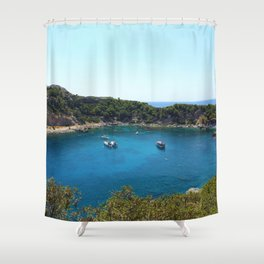 Rhodes Greece Anthony Quinn Bay Shower Curtain