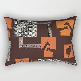 African Tribal Pattern No. 28 Rectangular Pillow