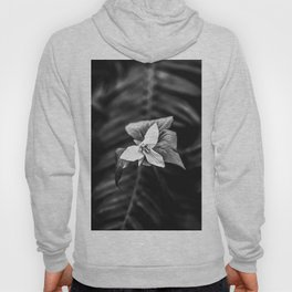 Trillium Flowers Pacific Northwest - Black and White Nature Photography Hoody