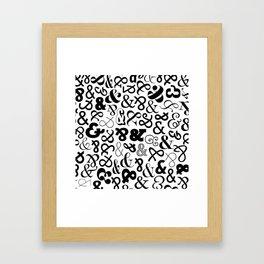 Ampersands on Ampersands Framed Art Print