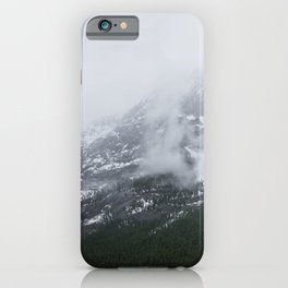 Mountains Landscape Photography   Maligne Lake Alberta iPhone Case