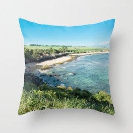 Hookipa Beach Throw Pillow