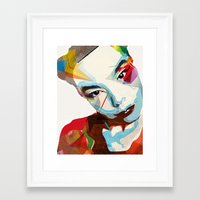 bjork Framed Art Prints featuring Bjork by Zaneta Antosik
