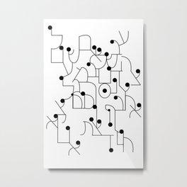 Font Study - Hebrew Metal Print