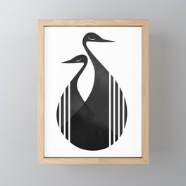 Cranes Framed Mini Art Print