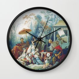 Le Jardin Chinois by François Boucher Wall Clock