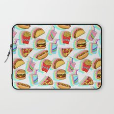 Rainbow Fast Food Laptop Sleeve
