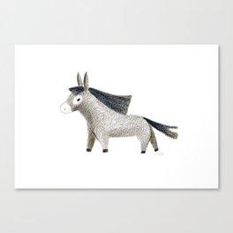 Little Donkey Canvas Print