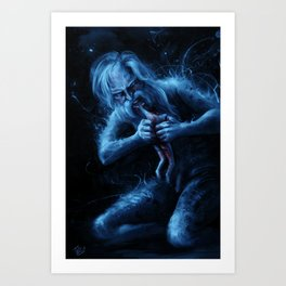 Saturn Devouring His Young (After Goya) Art Print