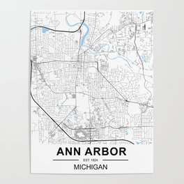 Ann Arbor, Michigan Poster