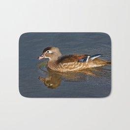 Female Wood Duck Calling Bath Mat
