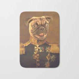 General Pugs Portrait Painting | Pug Lovers only! Bath Mat