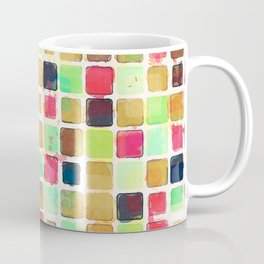 Colorful Textured Squares Coffee Mug