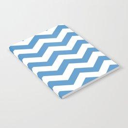 light blue chevron pattern Notebook