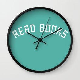 Read Books Wall Clock