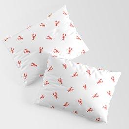 Lobster Pattern #home #decor #summer #orange #animals #sea #beach #pattern Pillow Sham