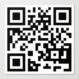 This Is Not A QR Code Canvas Print