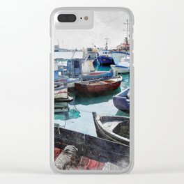 Trapani art 5 Clear iPhone Case