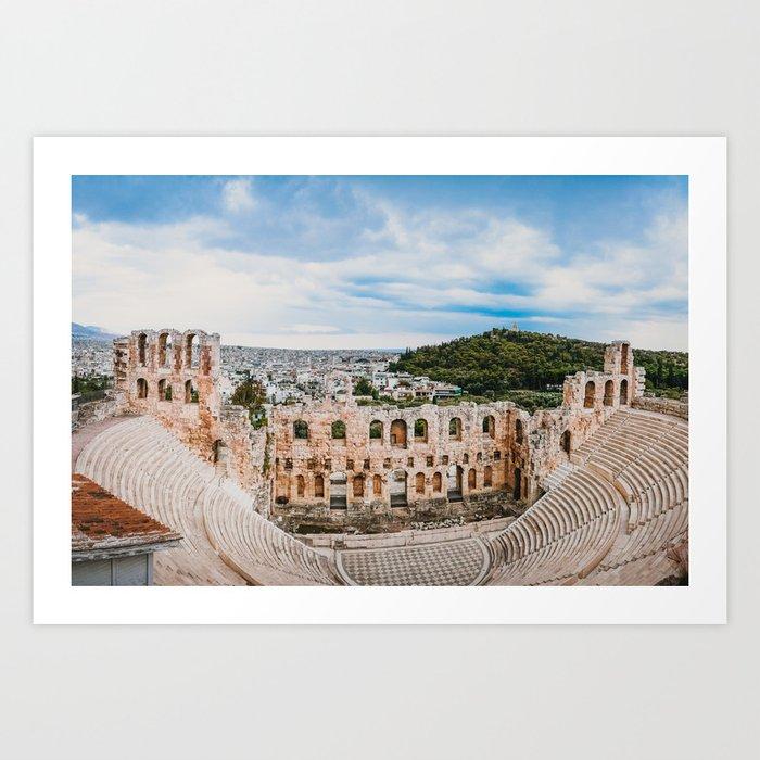 Theater of Dionysus in Athens Fine Art Print Art Print