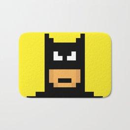 The Caped Crusader - Super Heroes in Pixel Bath Mat