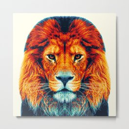 Lion - Colorful Animals Metal Print