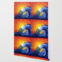 Tardis and a Great Wave Wallpaper