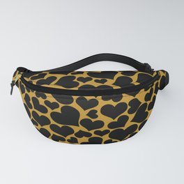 Happy Valentine's Day (Black and Gold) Fanny Pack