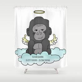 RIP Harambe Shower Curtain