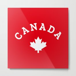 Canada Day Maple Leaf Metal Print