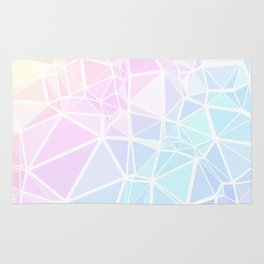 Pastel Triangles 1 Rug
